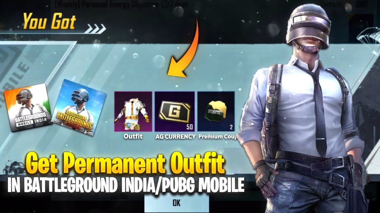 🔥Get Permanent outfit in Battleground Mobile India/Pubg Mobile| Free Premium Coupon & Ag Currency!