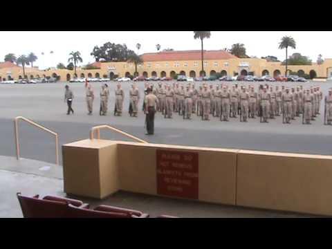 MCRD San Diego, 1st Bn, Bravo Co, Senior Drill Instructor SSgt Rivas, Final Drill