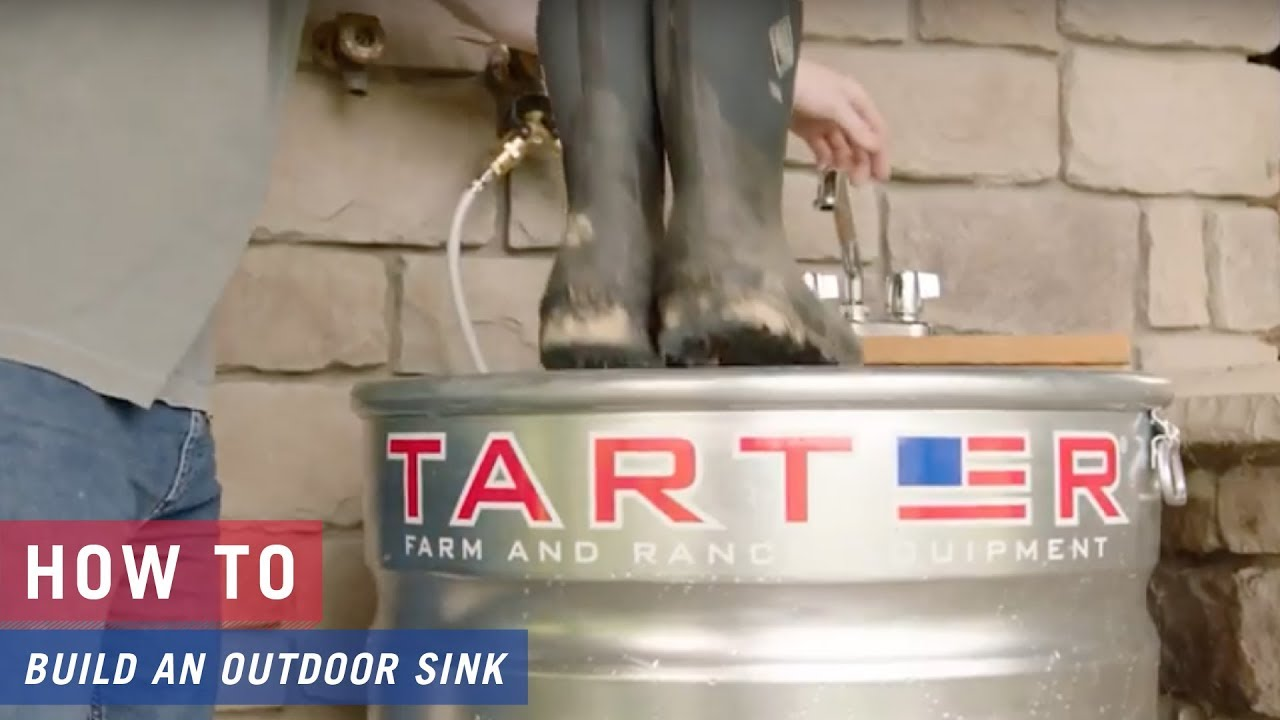 How to create an Outdoor Sink with Tarter Galvanized Stock Tanks