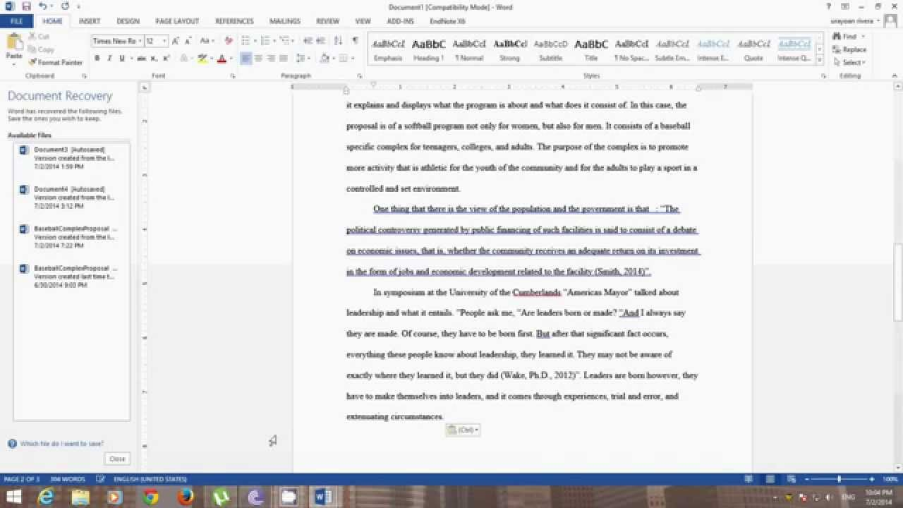 How do I add references into the body of an essay?