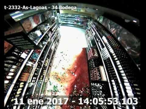 Asalta armado Mercadona Ourense, camaras interiores
