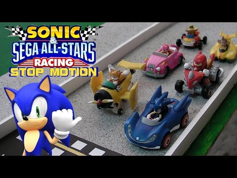 Sonic and Sega All Stars Racing Stop Motion