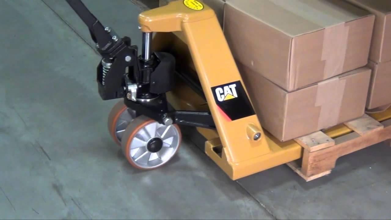 The Cat Lift Trucks Hand Pallet Truck Youtube