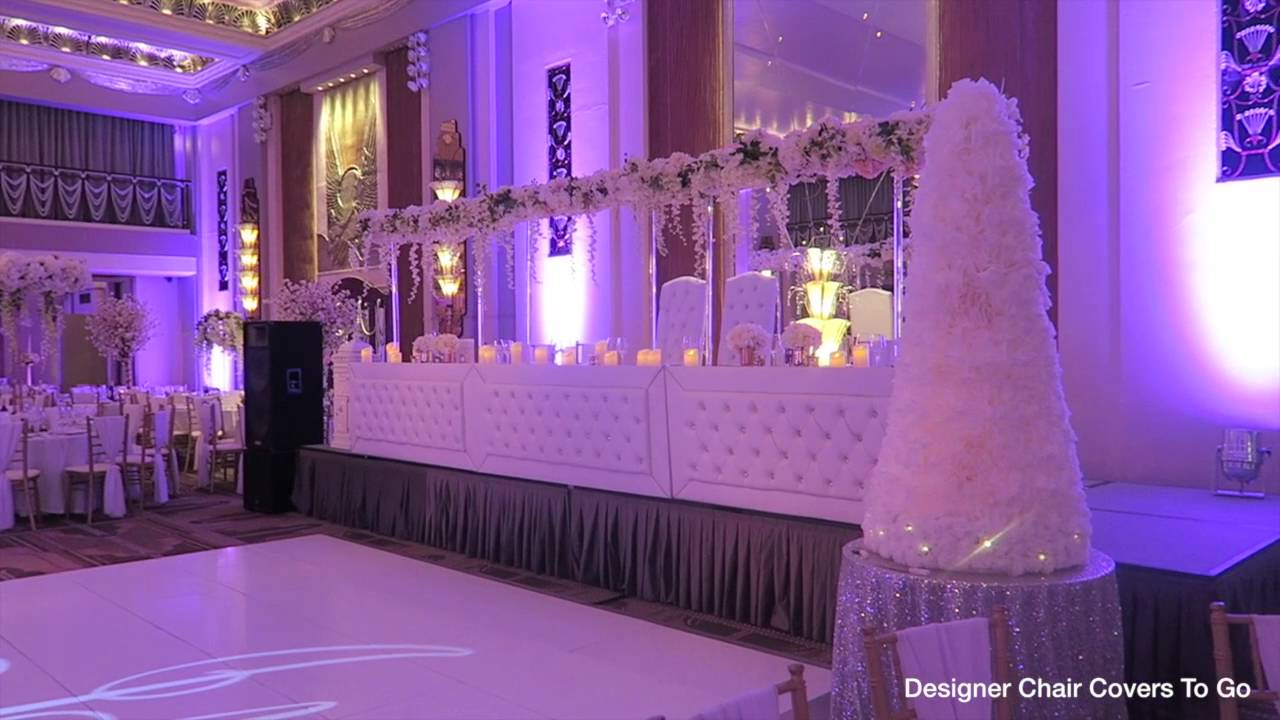 wedding at sheraton park lane hotel flowers and decor by designer chair covers to go youtube - Violet Hotel Decor
