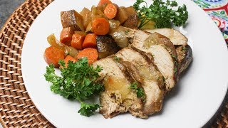 Maple Butter Apple Stuffed Pork Sirloin