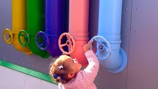ABC lyrics with Funny baby Outdoor playground Fun playtime area for kids Nursery Rhymes songs