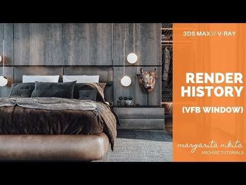 Render History (in V-Ray Frame Buffer Window)