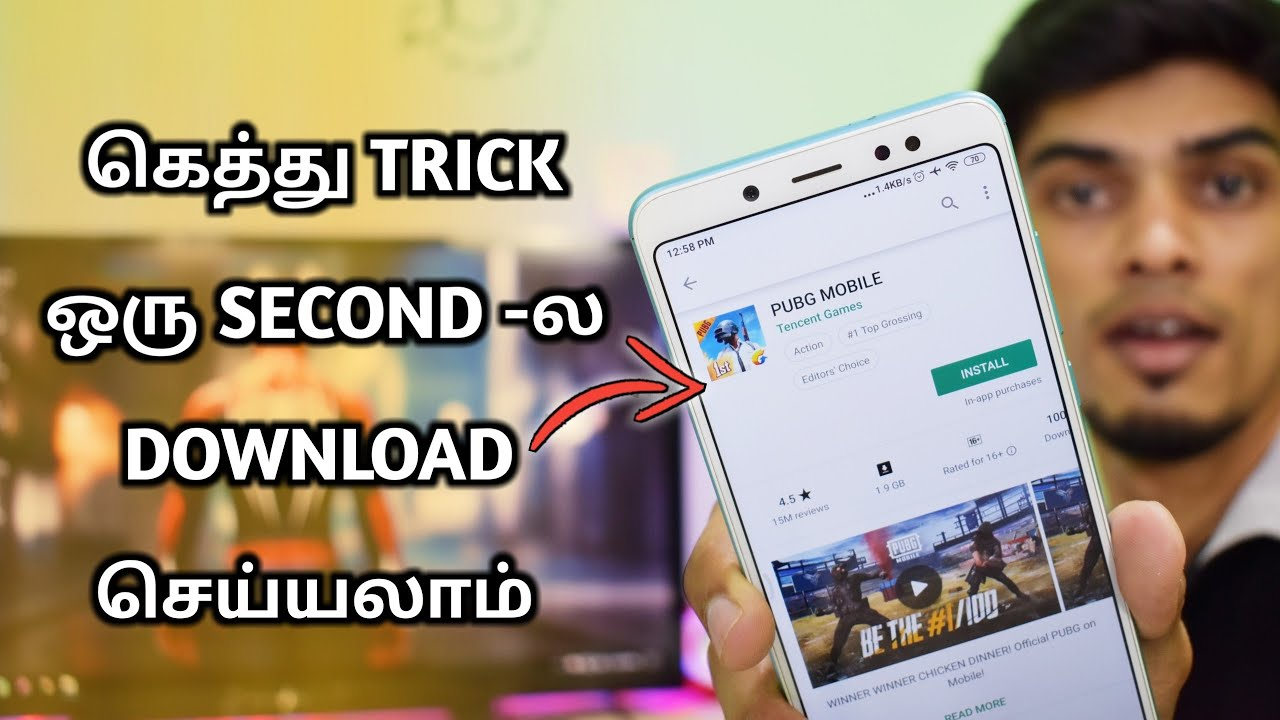 கெத்து TRICKS | Super Fast Downloading Trick For Playstore | CyberTamizha