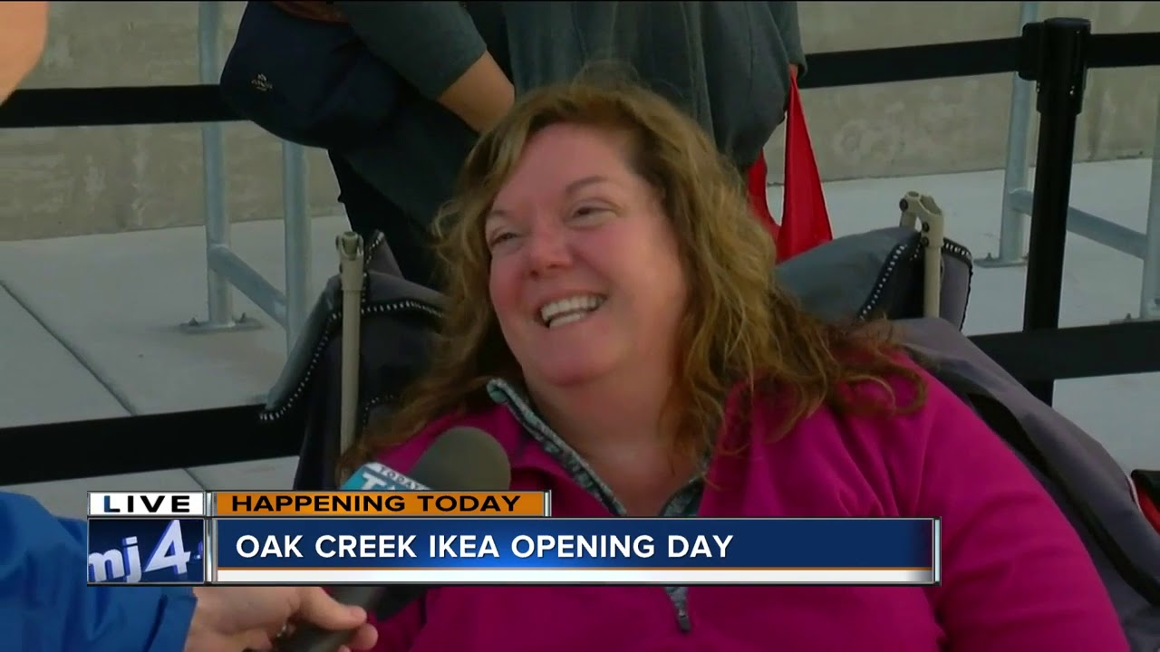 customers wait in line hours before ikea 39 s grand opening day youtube. Black Bedroom Furniture Sets. Home Design Ideas