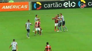 Clima fica quente entre jogadores de Flamengo e Botafogo no Maracanã