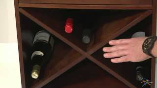 Lucca Home Storage Cabinet With Drawers - Espresso - Product Review Video