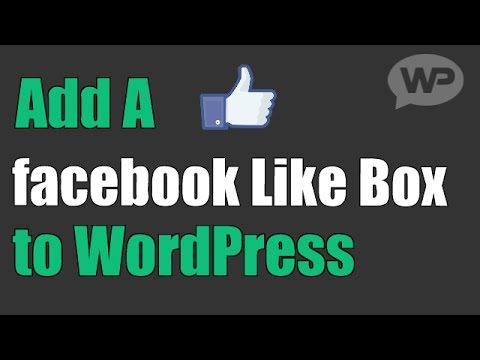 How To Add A Facebook Like Button on WordPress - YouTube