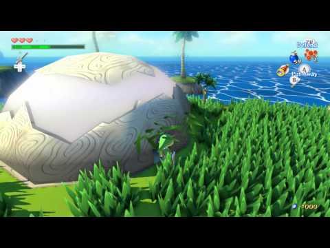 Zelda Windwaker HD Heart Piece 4 Pawprint Isle How To