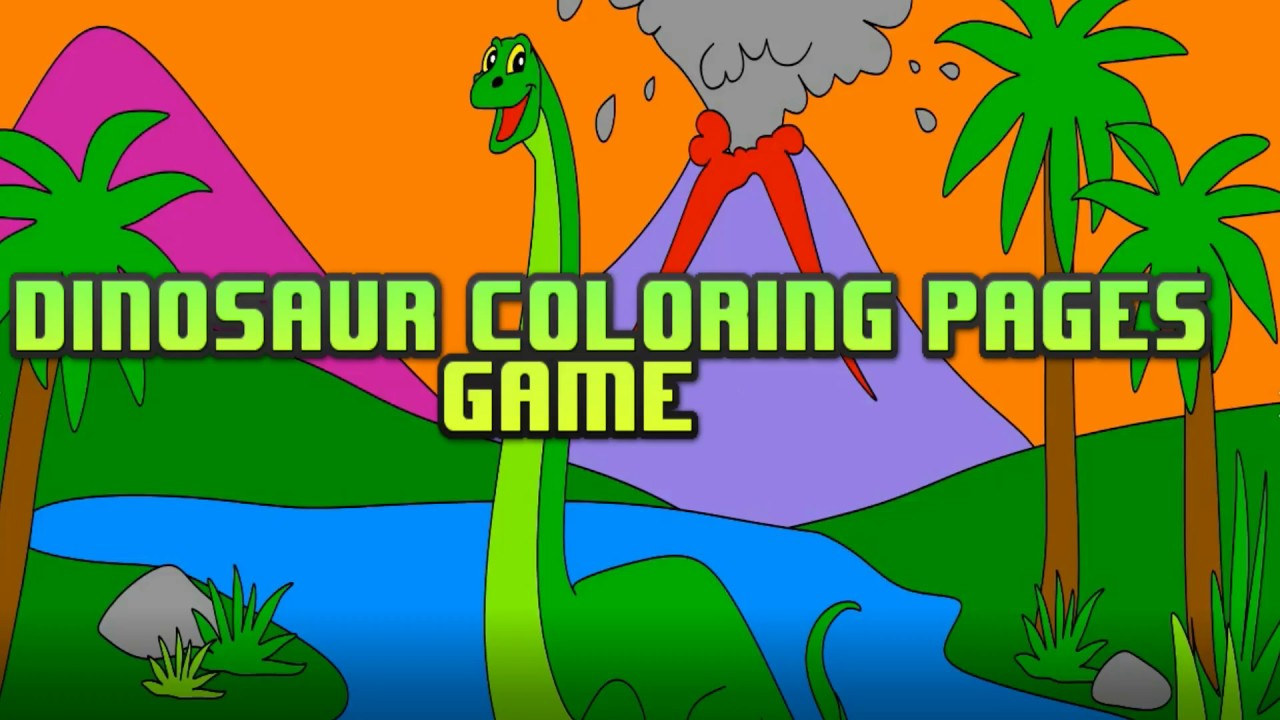 Dinosaur Coloring Book Pages for Kids | Dinosaur Drawing - YouTube