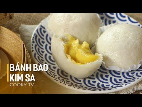 Cách làm BÁNH BAO KIM SA siêu thần thánh – LIU SHA BAO – SALTED EGG YOLK CUSTARD BUN – Cooky TV