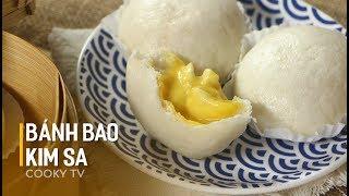Cách làm BÁNH BAO KIM SA siêu thần thánh - LIU SHA BAO - SALTED EGG YOLK CUSTARD BUN - Cooky TV