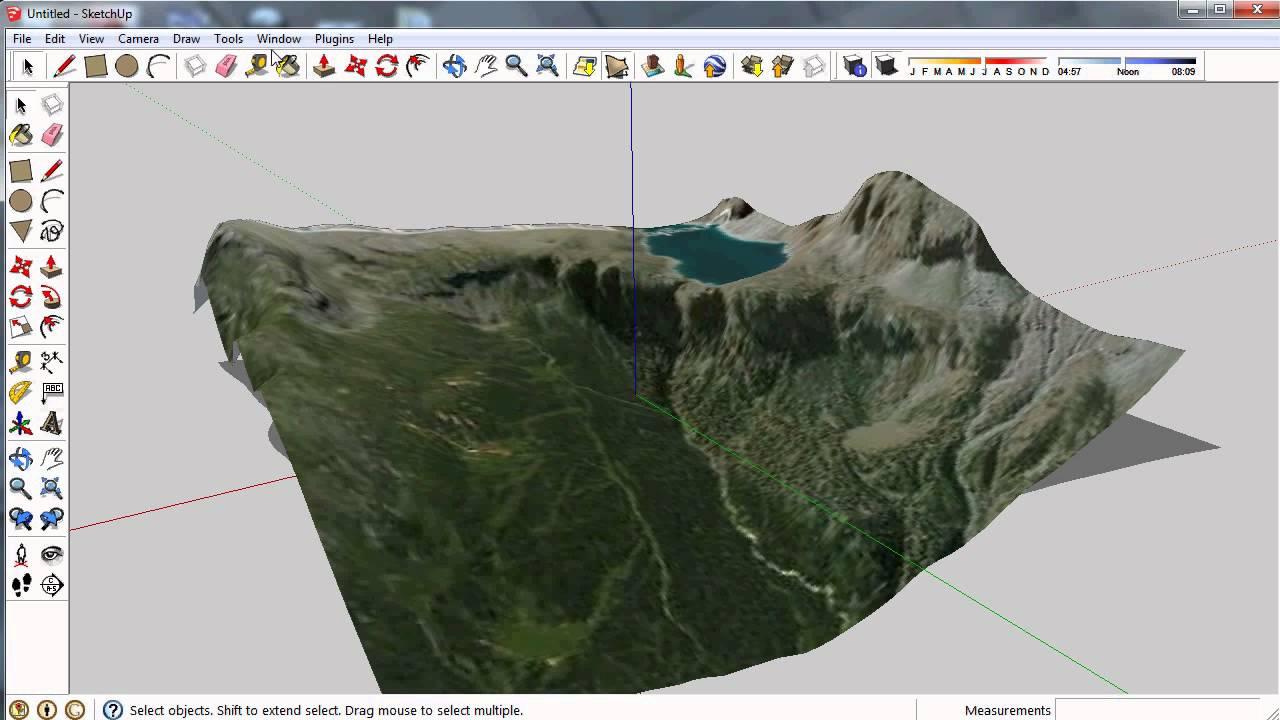 Sketchup Google Kartta Ja Sijainti Sketchupiin Varjot Oikein