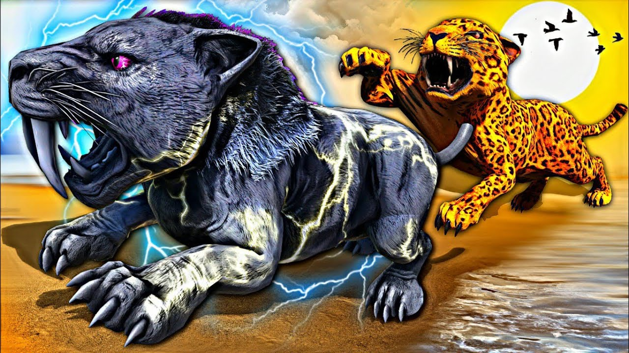 O Bebê Tigre Foi Atingido Por Um Raio e Virou Elétrico! A História da Onça Fnaf - Ark Dinossauros