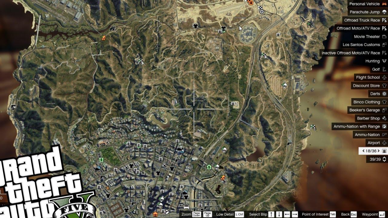 GTA 5 PC Mods Satellite View Map MOD Amazing Map Change