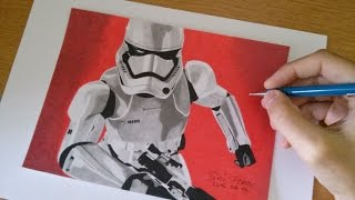 How to draw a Stormtrooper _ captain phasma