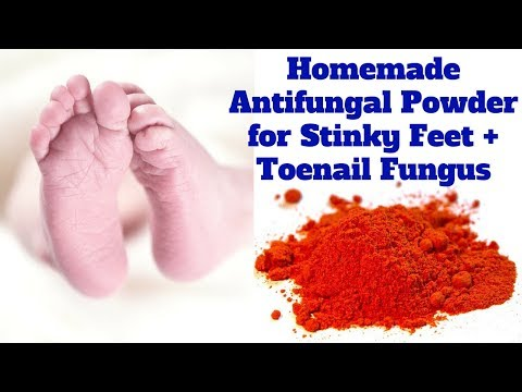 Homemade Antifungal Powder for Stinky Feet + Toenail Fungus
