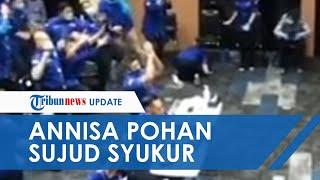 Saksikan Detik-detik KLB Partai Demokrat Ditolak, Annisa Pohan Sujud Syukur Dengar Hasilnya