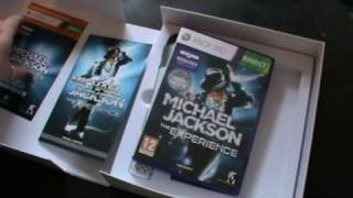 Michael Jackson Experience Collectors Edition for Xbox 360 Kinect Unboxing