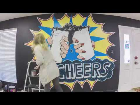 CHEERS Pop Art Wall Mural for BATCH : Timelapse