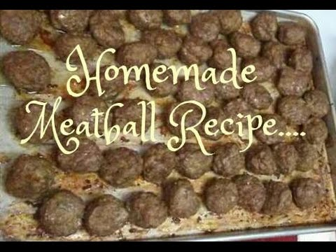 How to Make Italian Style Meatballs - YouTube