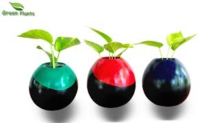 Ceramic Style Easy Planter Vase Making at Home | Showpiece Vase for Home Decoration//GREEN PLANTS