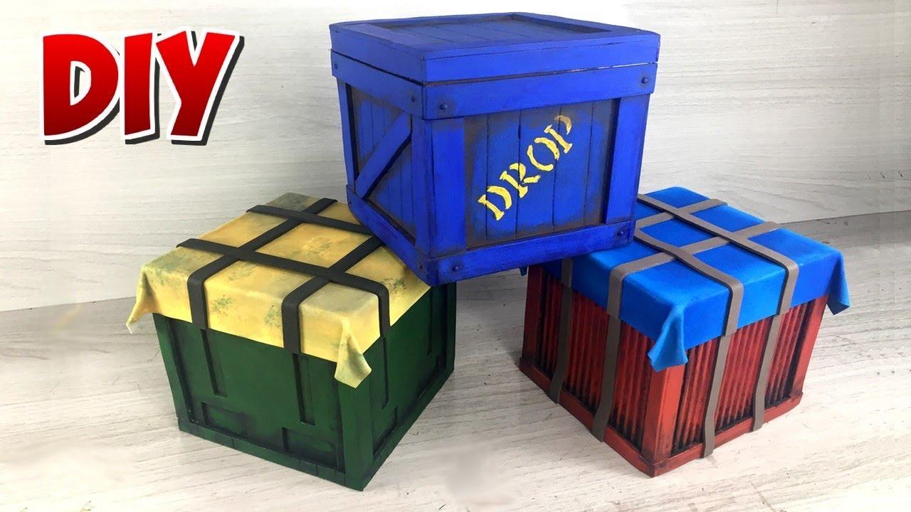 DIY Fortnite, Free Fire and Pubg - Drop box (air drop)