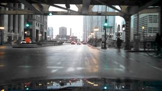 Driving in Downtown Chicago