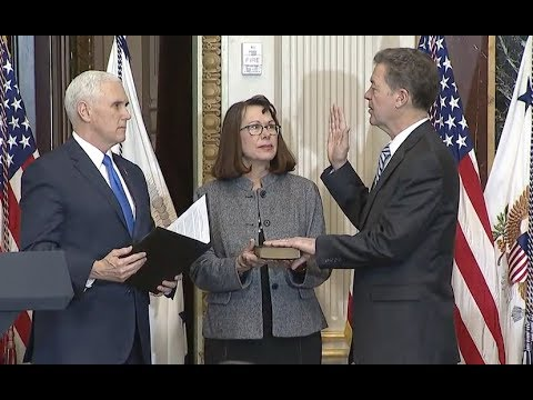Pence Swears In Religious Freedom Ambassador Sam Brownback - Full Ceremony