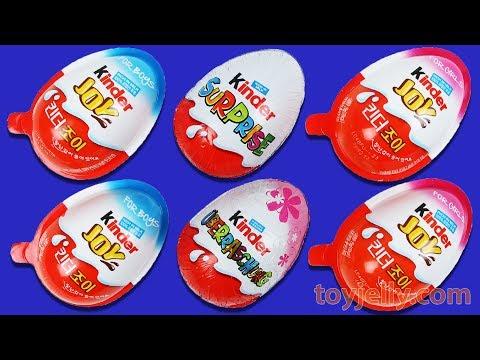 Kinder Joy Super Surprise Eggs Learn Colors Kids Baby Finger Family Song Baby Doll Slime Bath Time