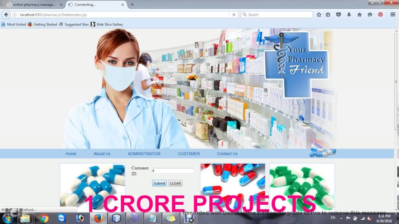 Pharmacy Management System Youtube