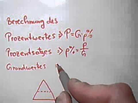 Formeln Zur Prozentrechnung Und Eselsbrücke Youtube