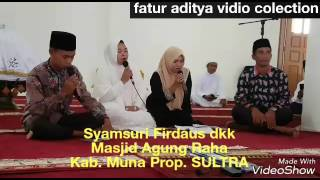 Video Syamsuri Firdaus Sholawat AL QIROM new edition 2017 di MESJID AGUNG Kab. Muna Prop. SULTRA download MP3, 3GP, MP4, WEBM, AVI, FLV September 2018