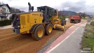 Motor Grader Finishing Big Road Construction Skilled operator