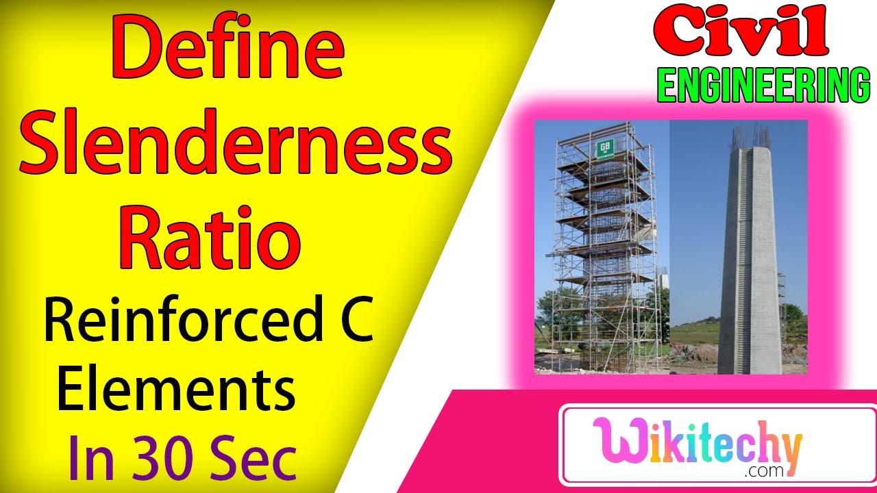 define slenderness ratio | reinforced concrete interview questions