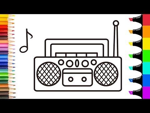 Как нарисовать радио