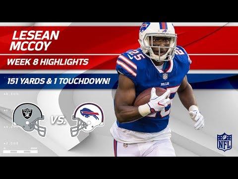 LeSean McCoy's 27 Carries, 151 Yards & 1 TD! | Raiders vs. Bills | Wk 8 Player Highlights