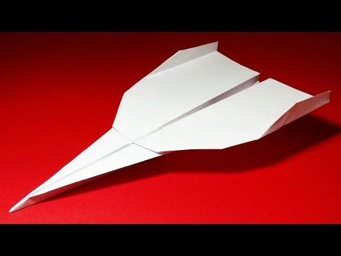 How to make a cool paper airplane with lined
