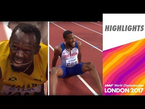 WCH London 2017 - 4X100m - Men - Final - Usain Bolt injured, Great Britain team wins!