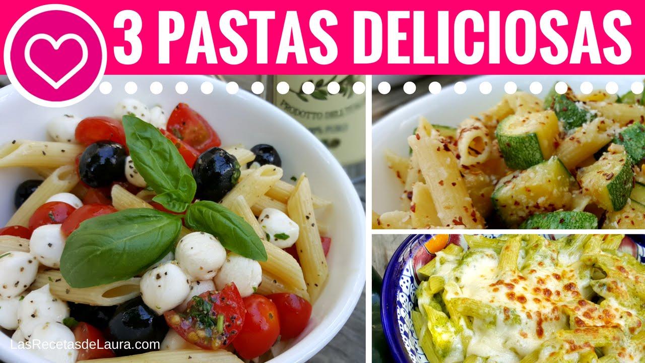 3 Comidas Saludables Rpidas y Fciles  Pasta de Las Recetas de Laura Recetas de Comida Saludable  YouTube