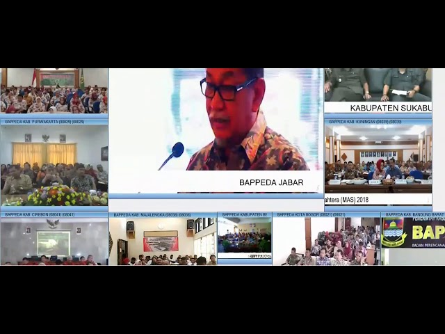 Virtual Musrenbang program opening ceremony