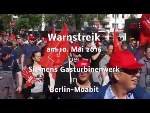 Warnstreik Siemens Gasturbinenwerk 2016 05 10