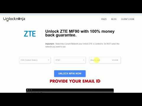 How to Unlock ZTE MF65M | Unlock ZTE MF65M | Unlockninja