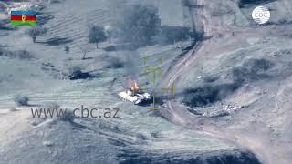 Минобороны Азербайджана опубликовало кадры уничтоженной военной техники ВС  Армении