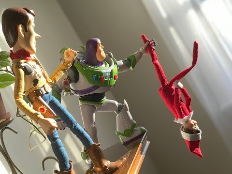 Woody and Buzz vs. Elf on the Shelf