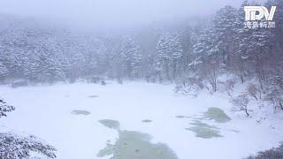 夫婦池の積雪